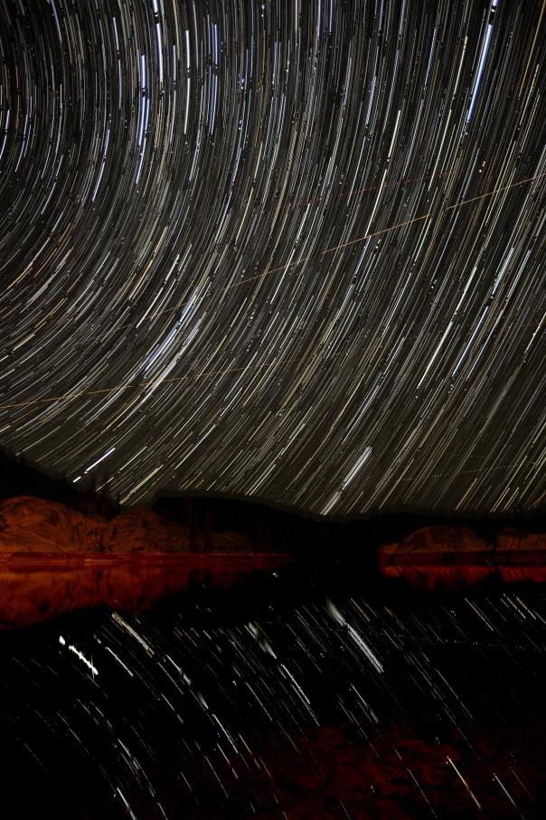 Time lapse of stars over Lake Hyatt.