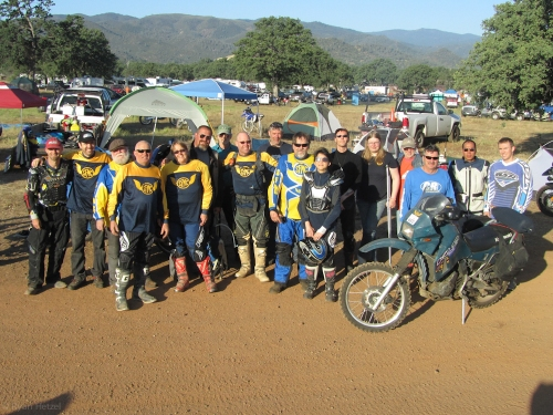 SFMC members at the 2012 Sheetiron 300 Dual Sport Ride, by the OMC