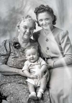 Leo jr, Victoria (Grandma McCoy) and Irene. April 13, 1941.