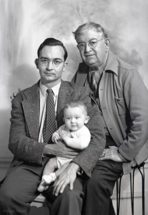 Leo jr, Victor and Leo Snr. April 13, 1941.