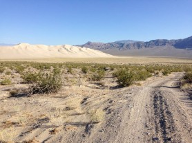Leaving Eureka Dunes around 7:30am. Trying to beat the heat.