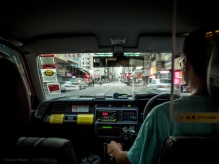 Taxi ride to the train station then north to China.