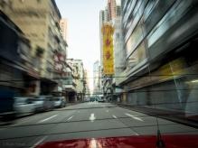 Everything is a blur, Mong Kok, Hong Kong.