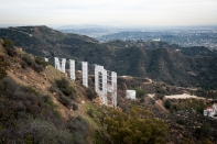 Hollywood sign from back
