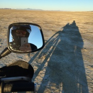 Riding on the Playa is something else.