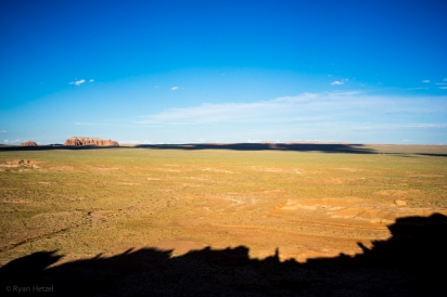 Looks east from the back side of Goblin Valley State Park