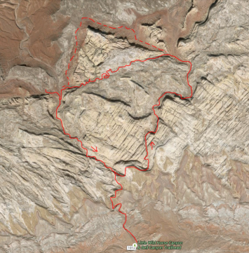 The 6 or so mile route was up Wild Horse and Down Bell. The dashed line is the normal connector... note my route... Id probably stick to the main route next time...