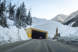 Cat 4 avalanche triggered by the army covers a car tunnel.